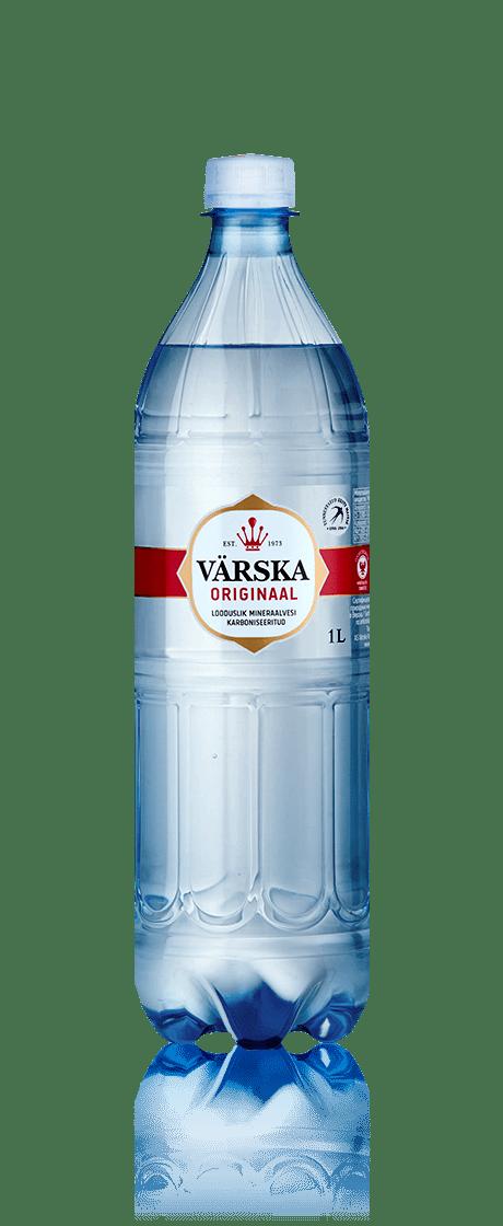 """Mineraalvesi """"Värska Originaal"""" 1.0 L, karboniseeritud"""