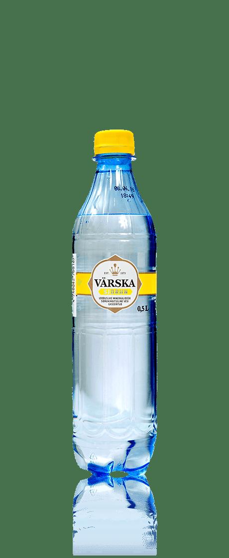"""Mineraalvesi """"Värska Sidrun"""" 0.5 L, karboniseeritud"""